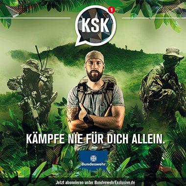 Bundeswehr/KSK - Kämpfe nie für Dich allein Keyvisual